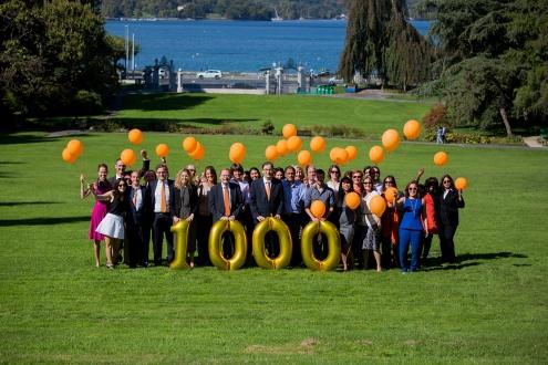 UICC Team - 1000 members celebration - 1